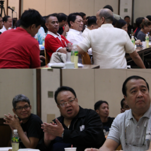 DOLE and labor leaders during the one day labor summit