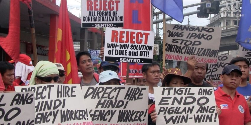 SENTRO during a protest action calling the Duterte Administration in scrapping the DO174